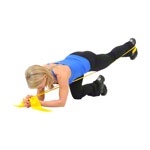 ARTZT vitality latex-free exercise band, 6 m x 8 cm, lightweight, yellow