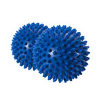 ARTZT vitality massage ball, Ø 10 cm, blue, 2 pieces