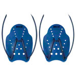 BECO Hand paddles swimming trainer, size M, one pair, blue