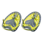 BECO Handpaddles Flex swimming trainer, size S, yellow, pair