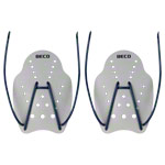 BECO Handpaddles swimming trainer, size L, pair, gray