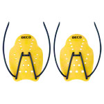BECO Handpaddles swimming trainer, size S, one pair, yellow