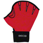 BECO neoprene gloves with finger hole, size M, one pair, red