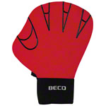 BECO neoprene gloves without finger hole, size M, one pair, red