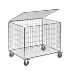 Ball Carts Standard with lid, 2-pcs., 392 L, movable