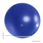 Ball holder for 1 exercise ball, Ø 30 cm, white