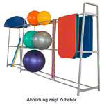 Ball rack incl. extension module, 405x62x180 cm, 2-pcs.