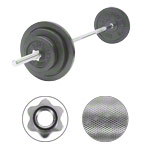 Barbell set, 50 kg, 2 x 10 kg, 2x 5 kg, 4x 2.5 kg, 9-pcs.
