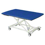Bobath table Lojer 1-piece, with wheel lifting system, LxWxH 200x120x40-95 cm