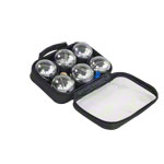 Boule-set with nylon bag, chrome-plated, 6 pieces