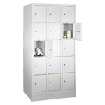 Box locker with 15 compartments, HxWxD 180x90x50 cm