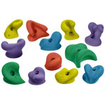 Climbing hold set medium, 10-piece.