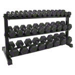 Compact dumbbell stand set with 16 pairs of dumbbells, 1-25 kg, 162x59x82 cm