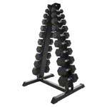 Dumbbell Stand Set with 10 pairs of dumbbells, 1-10 kg, LxWxH 74x62x128 cm