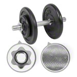Dumbbell-set, 15 kg, 5-pcs.