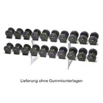 Dumbbell-stand incl. 10 pairs of dumbbells, 2.5-25 kg, 21-pcs.