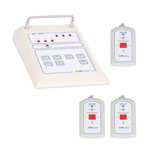 Emergency call system receiving unit medi-call 06, 6 channels incl. 3 transmitters