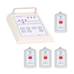 Emergency call system receiving unit medi-call 06, 6 channels incl. 4 transmitters