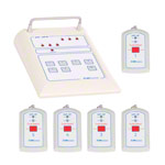 Emergency call system receiving unit medi-call 06, 6 channels incl. 5 transmitters