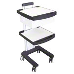 Enraf-Nonius equipment trolley, white / anthracite
