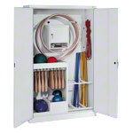 Equipment cabinet type I with solid metal hinged doors, HxWxD 195x120x50 cm