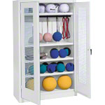 Equipment cabinet type II with perforated hinged doors, HxWxD 195x120x50 cm