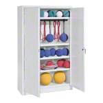 Equipment cabinet type II with solid metal hinged doors, HxWxD 195x120x50 cm