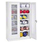Equipment cabinet type III with perforated hinged doors, HxWxD 195x120x50 cm