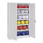 Equipment cabinet type III with solid metal hinged doors, HxWxD 195x120x50 cm