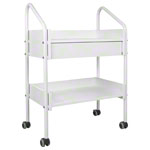 Equipment cart standard with 4 wheels, white