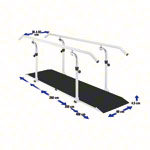 Exclusive parallel bars, beam length 3.5 m made of metal