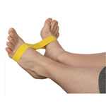 Exercise band Ankleciser, lightweight, yellow, set of 5