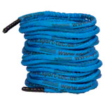 Fitness cable Battle Rope coated, Ø 3 cm x 30 m, blue, 10,5 kg