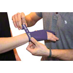 Flossband Level 3, 2m x 2,5 cm, strong, purple