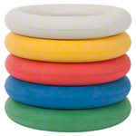 Foam rubber ring, Ø 17 cm , set of 5