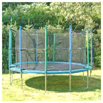 Garden trampoline 30 set, trampoline Ø 3 m incl. safety net