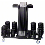 Get-Fit barbell car with 20 barbell sets