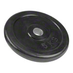 Get-Fit weight plate made of rubber, Ø 3 cm, 5 kg, 1 piece