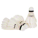 Goose feather shuttlecocks, 6 pieces