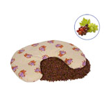 Grape seed neck cushion with cotton cover, 30x30 cm