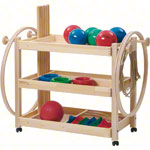 Gymnastics equipment trolley standard set, 44-piece