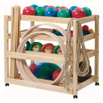 Gymnastics equipment trolleys exclusive set, 107 pieces