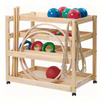 Gymnastics equipment trolleys exclusive set, 44-piece