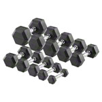 Hex compact dumbbell set, 1-10 kg, 10 pieces