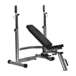 Horizon fitness weight bench + barbell rack Adonis Plus, 2-pcs.