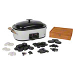 Hot Stone Set large incl. heating appliance and 70 stones, 75-pcs.