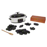 Hot Stone Set small incl. heating unit and 50 stones, 55-pcs.