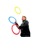 Juggling rings made of plastic Ø 24 cm, set of 3