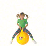 Jumping ball, Ø 45 cm, yellow