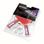 KETTLER table tennis racket set Champ: 2 table tennis rackets + 3 table tennis balls